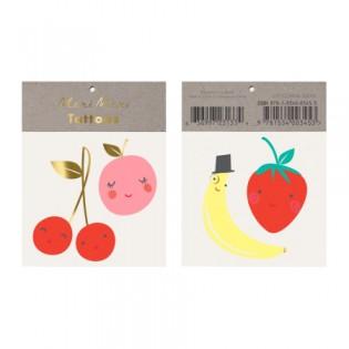 Tatouages éphémères fruits heureux - Meri Meri