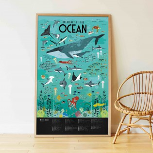 Poster & stickers Animaux Marins - Poppik