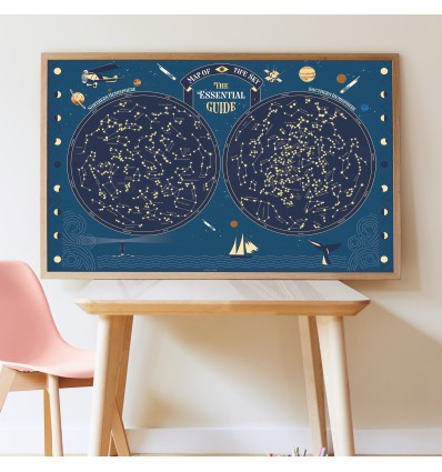 Poster & stickers phospho Carte du Ciel - Poppik