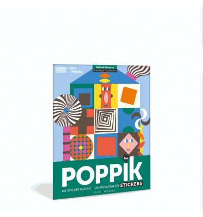 Illusions d'optique / stickers poster - Poppik
