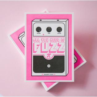 Carte Letterpress Fuzz