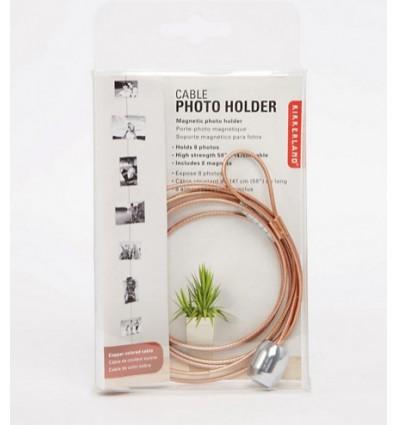 Porte photos fil cuivre