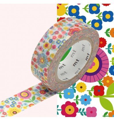 Masking Tape fleurs vintage