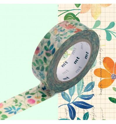 Masking Tape Fleurs sur papier