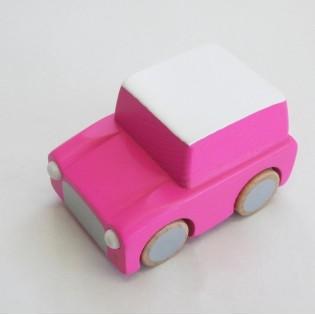 Voiture à friction en bois rose - Kiko+gg