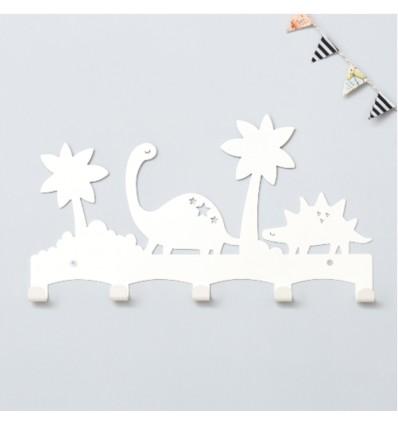 Porte manteaux dinosaure blanc - Eina Design