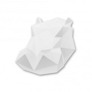 Kit de pliage papier Hippo blanc- Trophée assembli