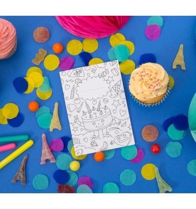 Set de 8 invitations à colorier - OMY