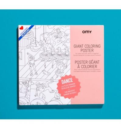 Poster Danse à colorier Omy