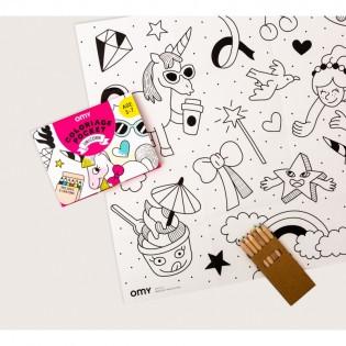 Coloriage pocket Licorne - OMY