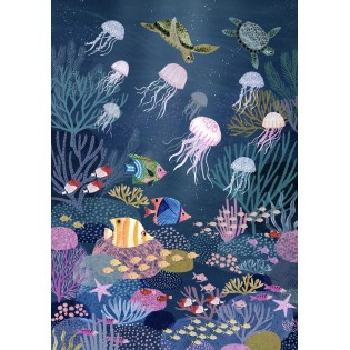 Affiche Fonds Marins Rebecca Jones - Petit Monkey