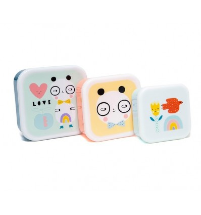 Set de 3 boîtes à goûter Panda - Petit Monkey