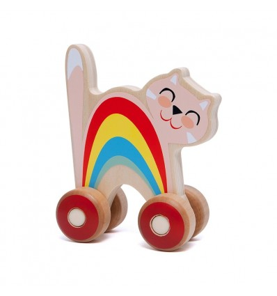 Chat en bois à tirer - Petit Monkey