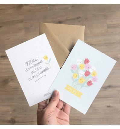 Carte Merci Maitresse/Nounou - Zü (ZU)