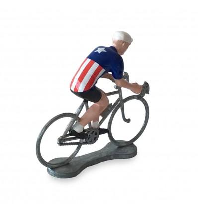 Figurine cycliste Etats-Unis - Bernard & Eddy