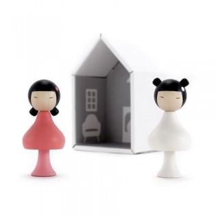 Figurines en bois magnétiques - Sara & Ichika