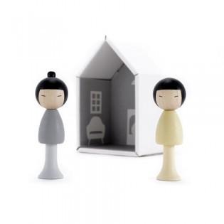 Figurines en bois magnétiques - Yuma & Ren
