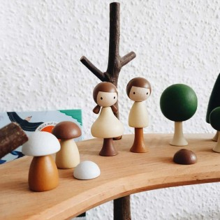 Arbres en bois magnétiques - Eté 13 pièces