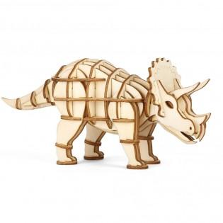 Puzzle 3D en bois Triceratops