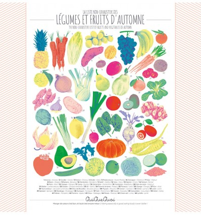 Affiche Automne fruits & légumes - Qui Que Quoi