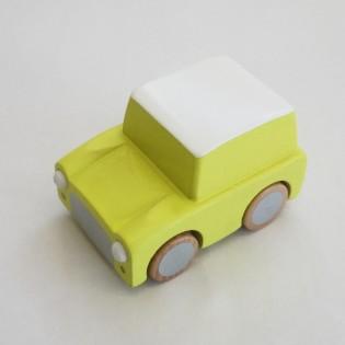 Voiture à friction en bois jaune - Kiko+gg
