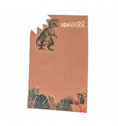 Set de 8 invitations Dinosaures