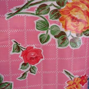 Toile cirée Rosedal rose - Kitsch Kitchen