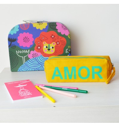 Trousse coton jaune Amor - Kitsch Kitchen