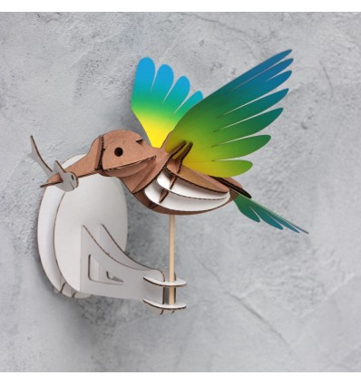 Oiseau DIY Martin Pêcheur Jaune & Bleu - Assembli