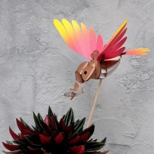 Oiseau DIY Martin Pêcheur Rouge & Jaune - Assembli
