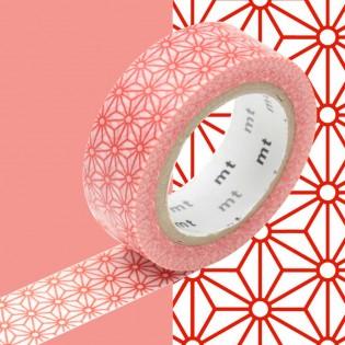 Masking tape fleurs rouges