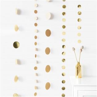 Guirlande ronds pailletés dorés - Rico Design