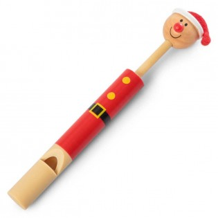Sifflet à coulisse en bois Noël