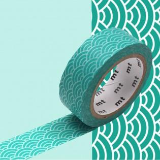 Masking Tape Vague Seigaiha vert