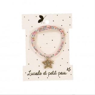 Bracelet liberty étoile dorée - Luciole et Petit Pois