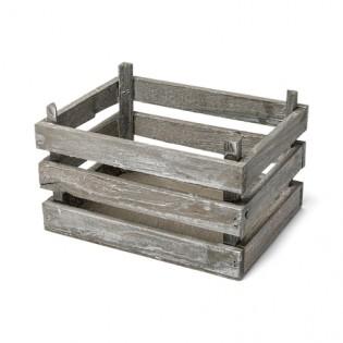 Cagette bois cérusé