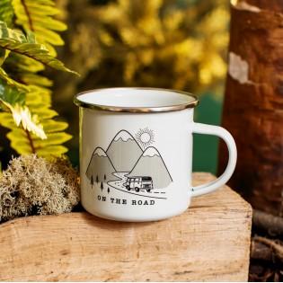 Mug tasse émaillée On the Road - Sass & Belle