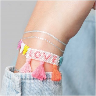 Kit DIY bracelet Love - Rico Design