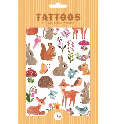 Tatouages Animaux Woodland Friends - Petit Monkey