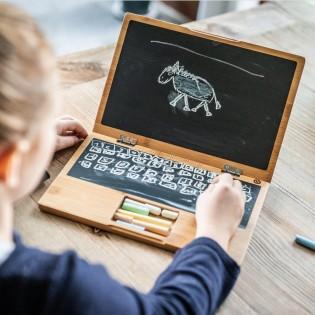 Ordinateur en bois avec craies - Donkey Products