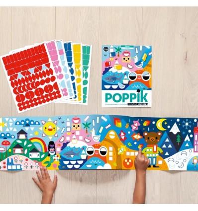 4 Saisons - stickers poster - Poppik