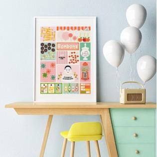 Affiche Les Bonbons - Les Petits Yéyés