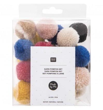 Set de pompons laine Jolly Xmas - Rico Design
