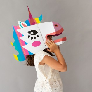 Masque 3D en carton Licorne - Omy