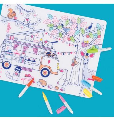 Set de table silicone Dream Van - Super Petit