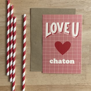 Carte Love You Chaton - Cité Candide
