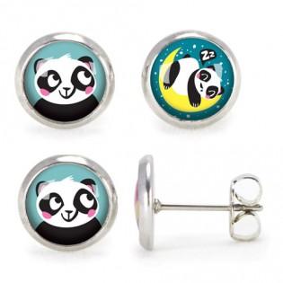 Boucles d'oreilles Panda ZZZ - Emilie Fiala