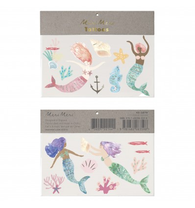 Tatouages éphémères Sirènes - Meri Meri