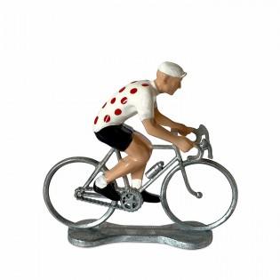 Figurine cycliste Maillot à pois - Bernard & Eddy