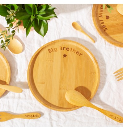 Assiette en bambou Big Brother - Sass&Belle